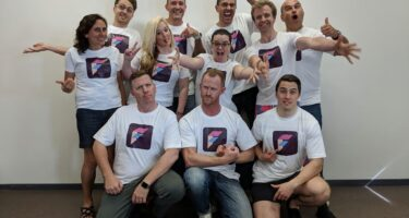 It wouldn't be a startup without matching team shirts . Credit: Startup Weekend Perth