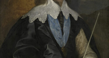 Before treatment: Anthony van DYCK Philip Herbert, 4th Earl of Pembroke (c. 1634) oil on canvas 105.0 x 83.0 cm National Gallery of Victoria, Melbourne Felton Bequest, 1938 .